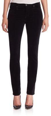 AG Prima Mid-Rise Corduroy Cigarette Jeans $188 thestylecure.com