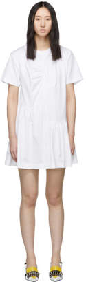 Marques Almeida White Panelled Gathered Dress
