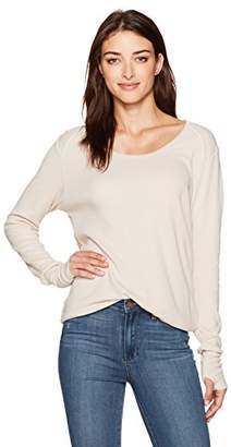 LAmade Women's Long Sleeve Relax Fit Thermal Top with Thumbholes