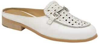 Ravel - White 'Axis' Ladies Slip On Heeled Loafers
