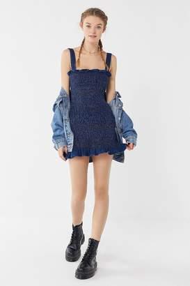 Urban Outfitters Sofia Denim Smocked Mini Dress