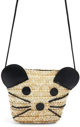 Forever 21 Girls Straw Mouse Purse (Kids)