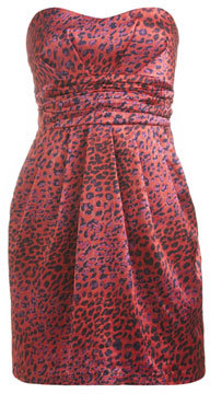 Arden B Cheetah Print Tulip Tube Dress