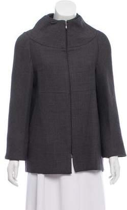 Calvin Klein Collection Layered Collar Wool Jacket