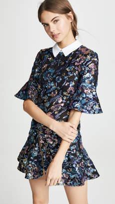 Self-Portrait Self Portrait Floral Sequin Embroidery Dress
