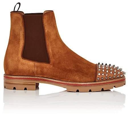 Christian Louboutin Men's Melon Suede Chelsea Boots