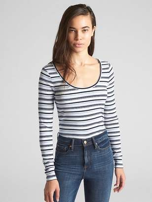 Gap Featherweight Ribbed Stripe Long Sleeve T-Shirt
