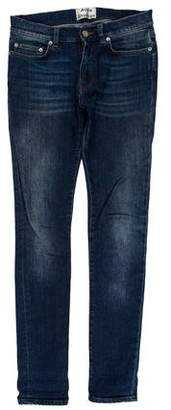 Acne Studios Thin Spaniel Vent Mid-Rise Skinny Jeans
