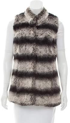 Rachel Zoe Faux Fur Striped Vest