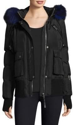 Nicole Benisti Fordham Fox& Rabbit Fur Lined Bomber Jacket