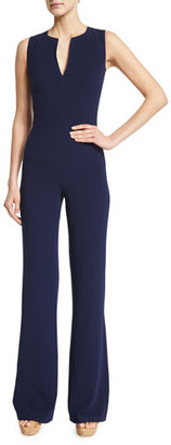 Ralph Lauren Collection Isadore Sleeveless Double-Face Wool Jumpsuit, Dark Navy $1,690 thestylecure.com