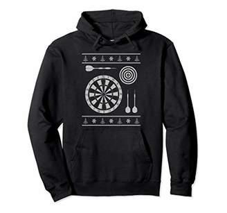 D+art's Darts Dart Board Ugly Christmas Sweater Style Hoodie