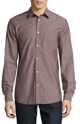 Selected Slim Cotton Casual Button-Down Shirt