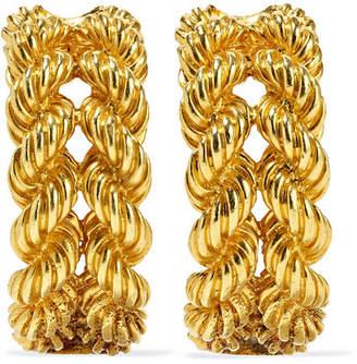 Fred Leighton Mid 20th Century Hermès 18-karat Gold Clip Earrings
