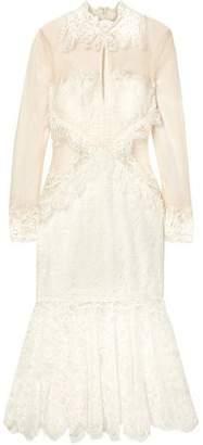 Jonathan Simkhai Lace And Mesh Midi Dress