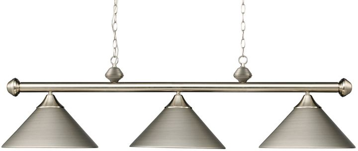 Bed Bath & Beyond Elk Lighting Casual Traditions 3-Light Island/Billard Pendant in Satin Nickel