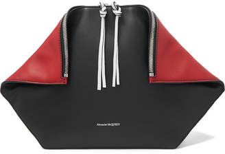 Alexander McQueen Butterfly Two-tone Leather Pouch - Black