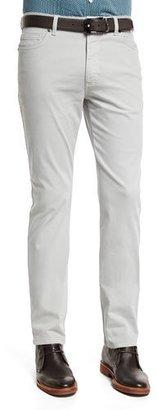 Ermenegildo Zegna Five-Pocket Stretch-Cotton Pants, Putty $345 thestylecure.com