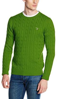 Gant Men's Cotton Cable Crew Jumper