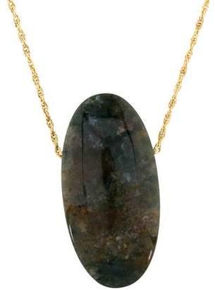 14K Jasper Pendant Necklace