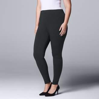 Vera Wang Plus Size Simply Vera Solid Leggings