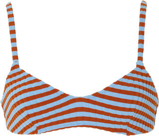 Solid & Striped Rachel Ribbed Striped Bikini Top