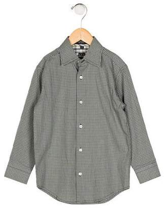 Ike Behar Boys' Gingham Button-Up Shirt