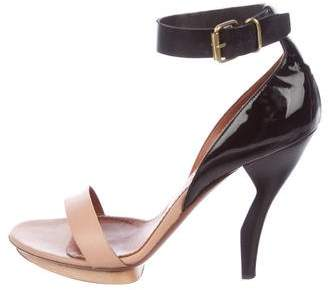 Lanvin Bi-Color Leather Sandals