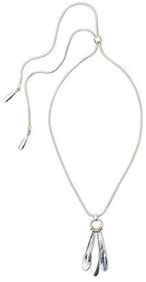 Kenneth Cole New York Mother of Pearl Inlay Slider Pendant Necklace
