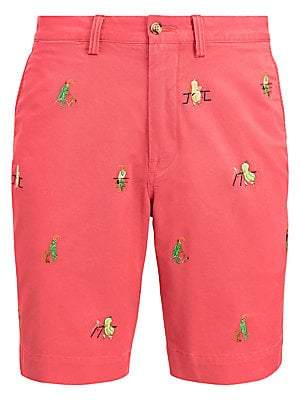 Polo Ralph Lauren Men's Stretch-Cotton Embroidered Short