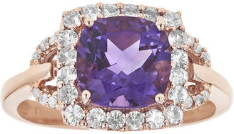 FINE JEWELRY LIMITED QUANTITIES Genuine Amethyst, Pink Sapphire and Diamond-Accent Ring