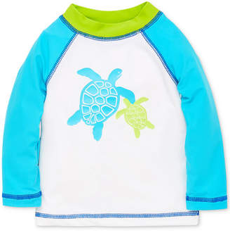 Little Me Turtle Baby Boys Rashguard