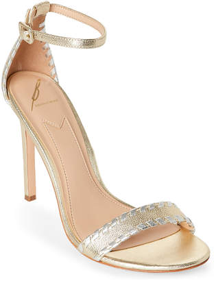Brian Atwood Metallic Fenix Two-Piece High Heel Sandals