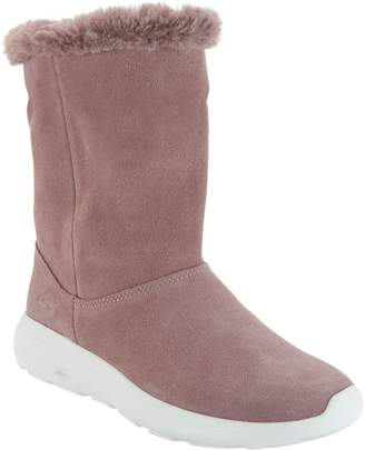 Skechers GOwalk Suede and Faux Fur Boots - Stunning