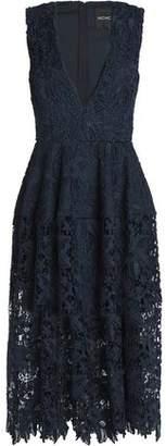 Nicholas Macramé Lace Midi Dress