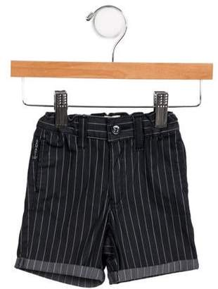 Armani Junior Boys' Pinstripe Cuffed Shorts