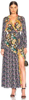 Frame Floral Panel Dress