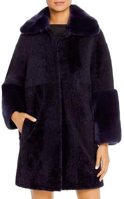 Maximilian Furs Rabbit Fur-Cuff Shearling Jacket - 100% Exclusive
