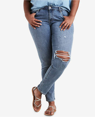 Levi's Plus Size 711 Ripped Skinny Jeans