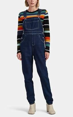 WeWoreWhat Women's Contrast-Stitched Denim Overalls - Blue