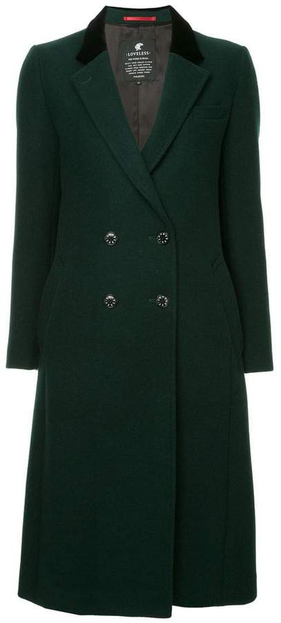 Loveless double-breasted flared coat