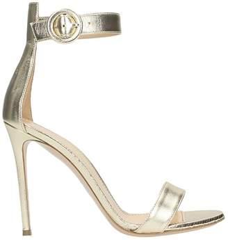 Lerre Metal Platinum Leather Sandals