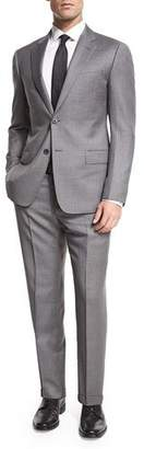 Armani Collezioni Striped Wool Two-Piece Suit, Gray