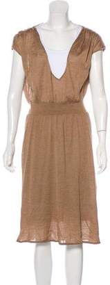 Giambattista Valli V-Neck Knit Midi Dress