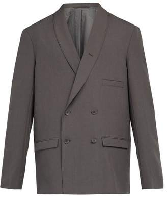 Lemaire - Double Breasted Wool Blazer - Mens - Grey