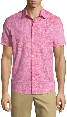 Original Penguin Men's Shell-Print Short-Sleeve Sport Shirt