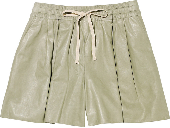 3.1 Phillip Lim Drawstring leather shorts