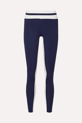 Vaara - Flo Tuxedo Striped Stretch Leggings - Navy