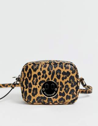 Hill & Friends Hill and Friends Happy Mini leather camera bag in leopard