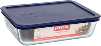 Pyrex Set of 4 Simply Store 6 Cup-1.5L Rectangular Storage Dish with Blue Lid